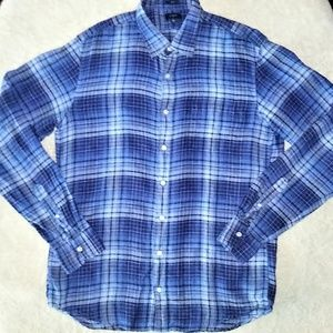 J. Crew Plaid Button Down Shirt Size LT